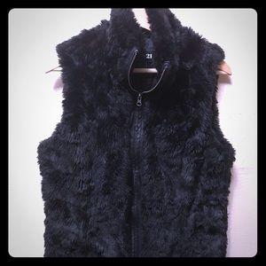 Forever 21 Faux Fur Vest (L)